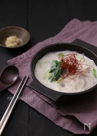 『レンジで作る!生姜ミルクの春雨スープ』