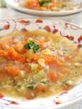 ガーリック玄米のハーブ野菜リゾット風