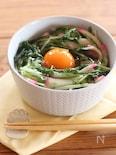 水菜と蒲鉾のさっと煮丼