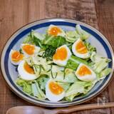 【サク飯(サラダ)】春キャベツの半熟卵のサラダ