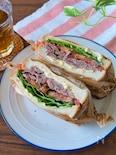 野菜たっぷり♩牛サーロイン肉でBLTサンド