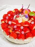 【ひな祭り】冷蔵庫まで5分!いちごのレアチーズケーキ
