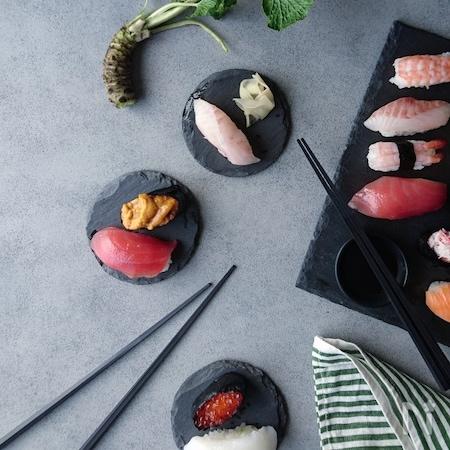 スレート皿で和食