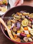 豚バラ肉とたっぷり野菜のフライパンぎゅうぎゅう焼き♡