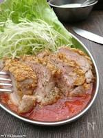 低糖質高たんぱく♪〜豚ヒレ肉のカツレツ+レンチントマトソース