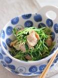 鶏肉と豆苗のバター醤油煮(電子レンジ)