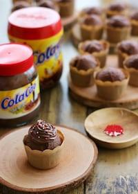 『ホットケーキミックスで簡単『コラカオ☆カップケーキ』』