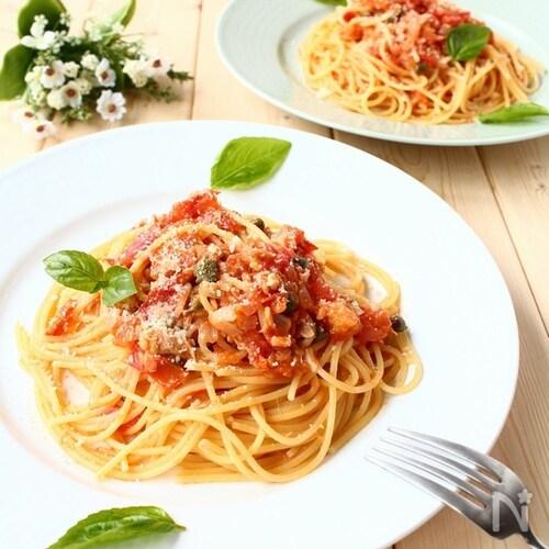 ソース作り置きも! フレッシュトマトとツナのスパゲッティ