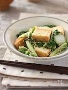 白菜と厚揚げのにんにくごまみそ炒め