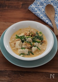 『簡単ヘルシー!豆乳キムチの玄米スープ』