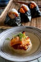 【トースターでふっくら!】鮭の焼きおにぎり(お茶漬けにも!)