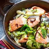 鮭とキャベツの重ね蒸し【#レンジ】