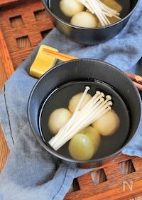 『豆腐白玉のお月見汁』