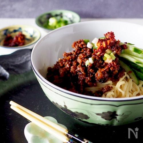 【作り置き肉味噌利用】ピリ辛汁なし坦々麺