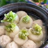 ダイエット中の必見!ふわふわおからの鶏団子と蕪のスープ煮