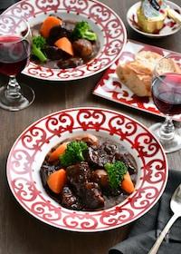 『【STAUB】牛肉の赤ワイン煮込み』