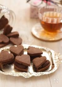 『乳製品なしでお手軽に♪チョコガナッシュクッキー』