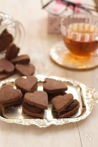 乳製品なしでお手軽に♪チョコガナッシュクッキー