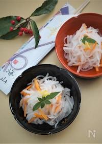 『寿司酢で簡単柚子なます』