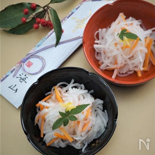 寿司酢で簡単柚子なます