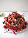 チュロスの3段デコレーションケーキ