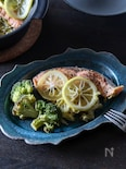 土鍋で作る♪サッパリ!鮭とキャベツのレモン蒸し
