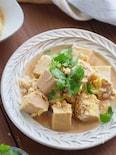 お出汁じんわり。高野豆腐とツナの卵とじ