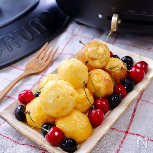 たこ焼きプレートで『至福の♡とろけるフレンチトースト』