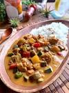 簡単に東南アジア気分‼︎【夏野菜とチキンのココナッツカレー】