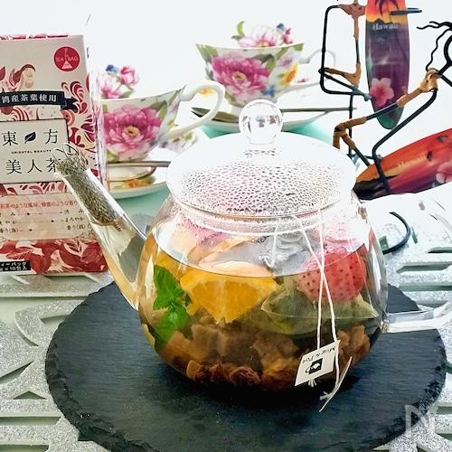 フレッシュ&ドライフルーツで美味しさアップ♪『東方美人茶』