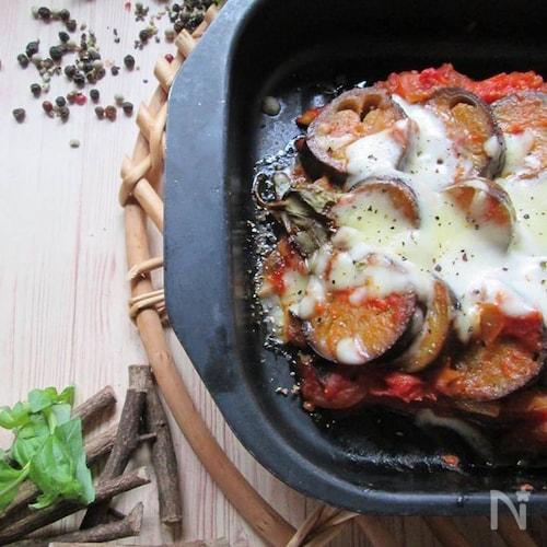 バジル香るラタトゥイユのチーズ焼き
