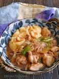 卵巾着と鶏肉とたっぷりねぎのとろみ煮