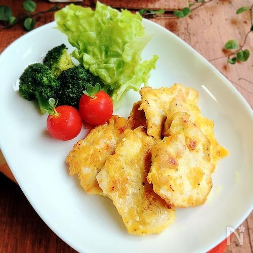 夕飯のおかず☆鶏肉のカレーチーズピカタ
