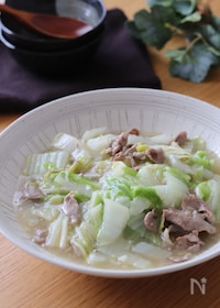 『アツアツをご飯とどうぞ♡白菜と豚こまのとろみ煮』