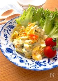 『とろっとして美味しい♡アボカドと半熟卵のわさびマヨドレサラダ』