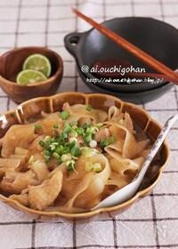 『鶏肉とピーラー大根で材料2つ*めんつゆで簡単さっぱり煮』