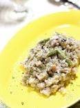 雑穀米でカッテージチーズと舞茸のリゾット