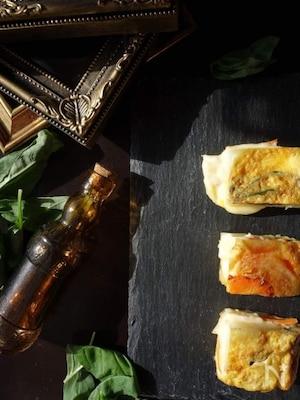 バジル風味ベビーチーズのフリッタータ