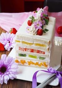 『萌え断‼️食パンフルーツケーキ』