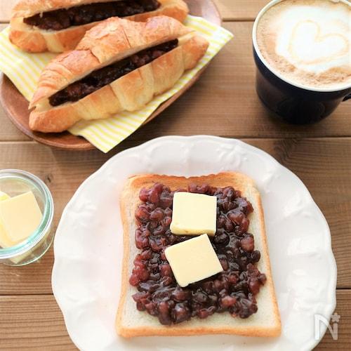 あまったあずきはこれ!1分朝食あんバタートースト