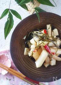 『【レンジで2分】シャキシャキ大根の南蛮漬け・作り置き・お弁当』