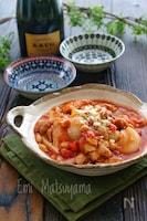 【らくレピ】レンジで出来ちゃう*チキンと大豆のトマト煮*