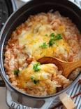 ミートソースで作る5分雑炊