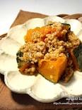 ひと鍋de簡単♡かぼちゃのそぼろ煮