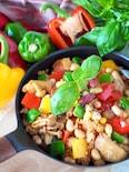 【お豆たっぷり】ジャンバラヤ風鶏肉とお豆のチキンライス