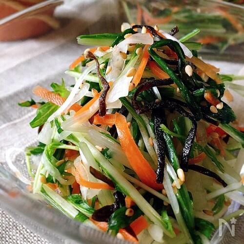即席漬け☆水菜と大根の塩こんぶあえ