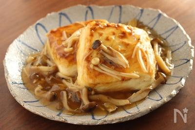 豆腐ステーキ きのこ