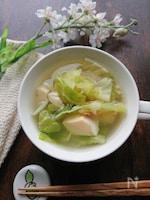 キャベツとろける♪玉子豆腐と生姜のごちそうスープ