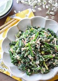 『5分de完成♡抱えて食べたい♡ほうれん草とツナのサラダ♡』