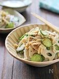 レンコンと切干大根のごまサラダ